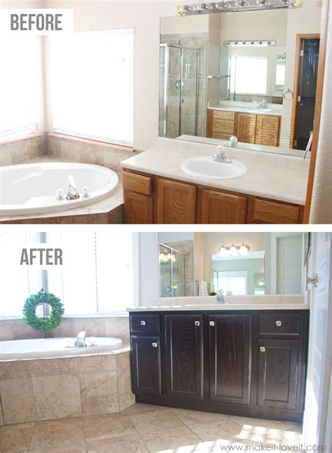 How To Refinish Bathroom Cabinets With Paint by How You Can Stain Oak Kitchen Cabinets And Bathroom