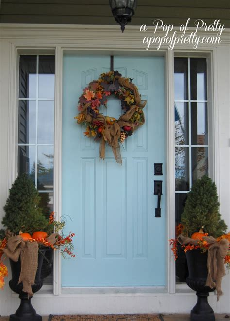 fall decorating front porch ideas  pop  pretty blog