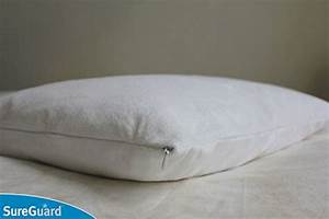 Set of 2 standard size sureguard pillow protectors 100 for Bed bug mattress and pillow protectors