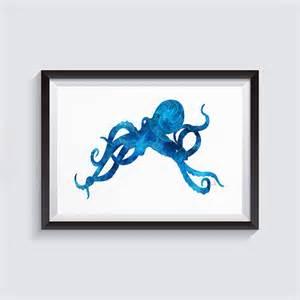 coastal bathroom wall decor bathroom blue nautical bathroom blue octopusoctopus