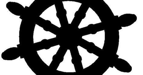 Free Silhouette Ships Wheel Clipart