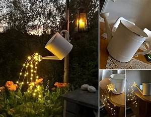 Glowing Watering Can with Fairy Lights Home Design