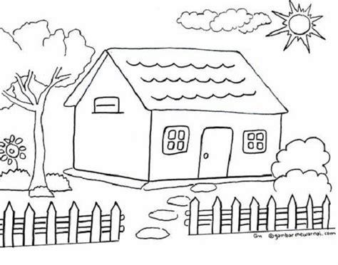 mewarnai gambar rumah yang bagus 30 menggambar cara