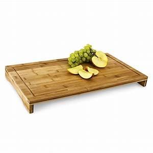 Bambus Schneidebrett Ikea : relaxdays schneidebrett bambus hxbxt ca 4 5 x 52 x 29 cm gro es und robustes holzbrett ~ Orissabook.com Haus und Dekorationen