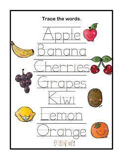 preschool printables fruit printable  images