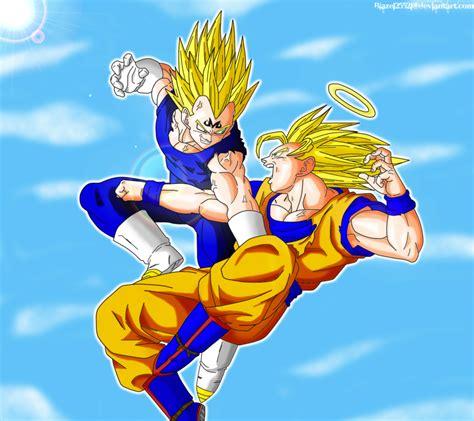Majin L Vs Goku by Goku Vs Majin Vegeta Colored By Jamalc157 On Deviantart