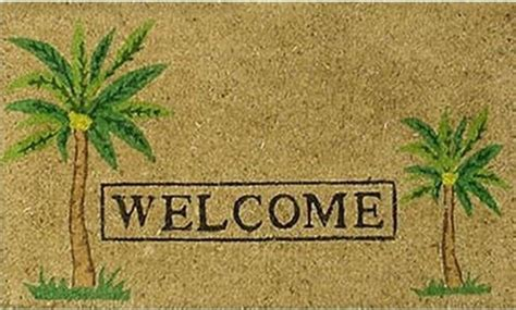 Tropical Doormats by Palm Quot Welcome Quot Doormat Tropical Doormats By