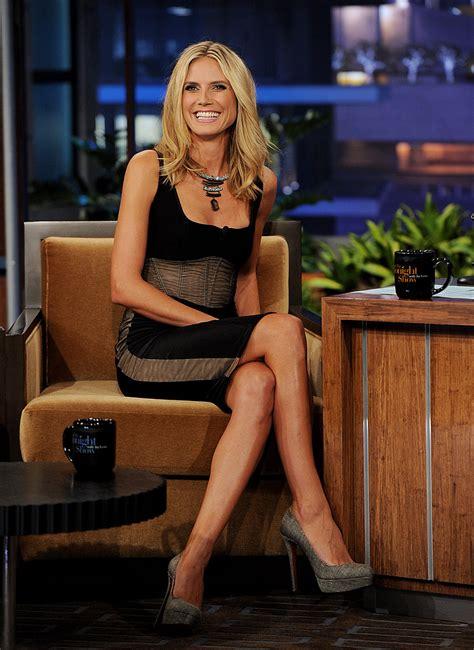 Heidi Klum Showed A Lot Of Leg Heidi Klum Sports A