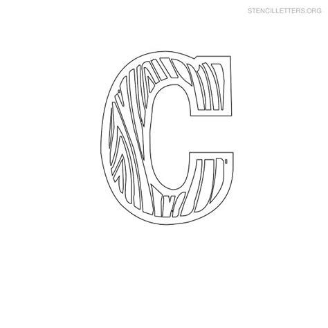 stencil letters c printable free c stencils stencil