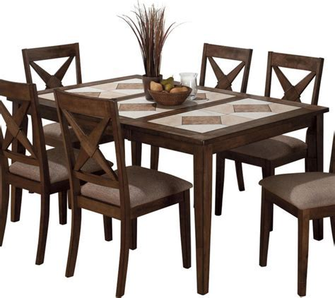 Jofran 794 64 Tri Color Tile Top Dining Table with