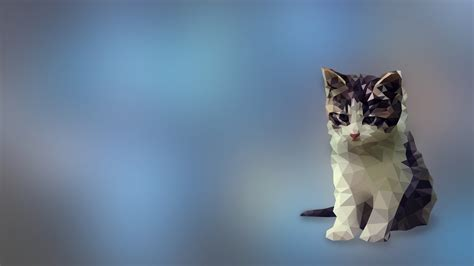 Low Poly Animal Wallpaper - digital kittens low poly cat animals wallpapers hd