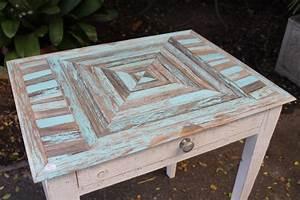 Table Bureau En Bois Recycl Puces D39Oc Brocante En Ligne