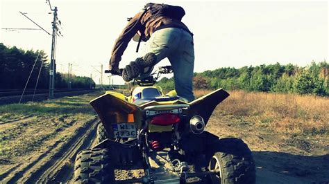 fmf   stock exhaust revving sound atv quad suzuki