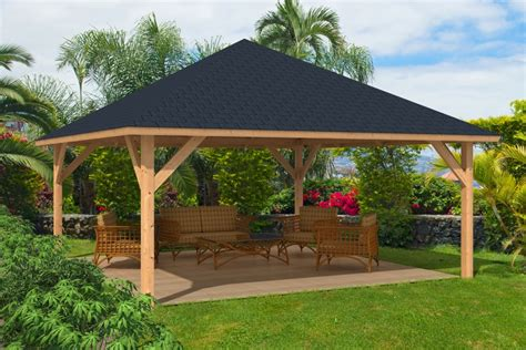 Gazebo 4x4 by Rhodos Larch Wooden Gazebo 5 5x5 5m