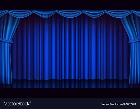 Blue Curtains by Blue Theater Curtain Theater Opera Or Royalty Free Vector