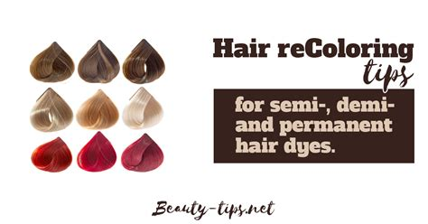 Different Types Hair Dye by Tips On Recoloring Hair When Hair Dyeing Went Wrong