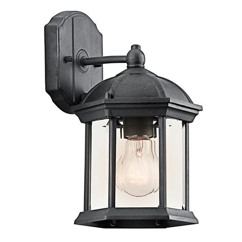 shop kichler lighting barrie 10 25 in h black outdoor wall