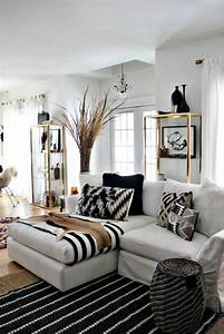48 black and white living room ideas decoholic for Black and white living rooms