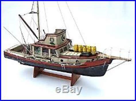 Lobster Boat Wood Model by Jaws Orca Wooden Model Boat Wood Lobster Fishing Trawler