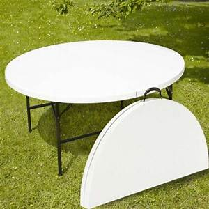 Table Pliante Ronde : location table pliante ronde 10 a 12 personnes 180cm sono lens location ~ Teatrodelosmanantiales.com Idées de Décoration