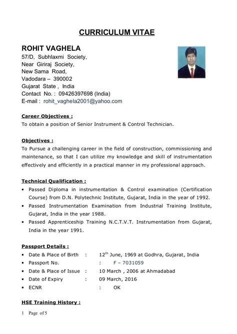 sle resume format for diploma mechanical engineers