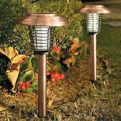 copper solar garden lights with built in bug zapper for