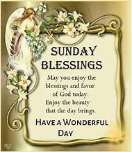 Sunday Morning Images Blessings - menu template design