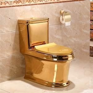Art Gold Toilet Siphon Silent Water Saving Art Toilet Gold