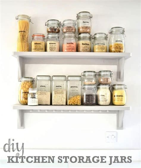 storage jars for kitchen diy kitchen storage ideas getting organised in the 5879
