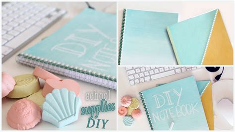 Diy Back To School Supplies  Notebooks, Chalk Paint And
