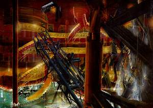 Artstation -  U0026 39  U0026 39 Poseidon U0026 39  U0026 39  -int  Main Lobby  Elevator Shaft Structure Collapsed