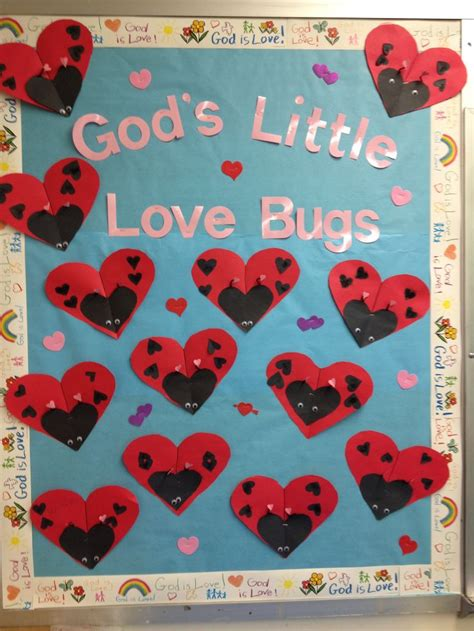 ladybug craft idea for crafts and worksheets for 185 | Valentines day bulletin board