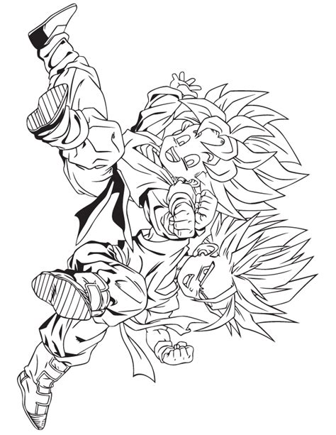 coloring z z gotenks coloring page coloring home