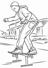 Skateboard Coloring Pages Drawings Drawing Printable Skateboarder Park Balancing Colouring Skate Skateboarding Colorings Template Getdrawings Categories Dot Version 1500px 1060 sketch template