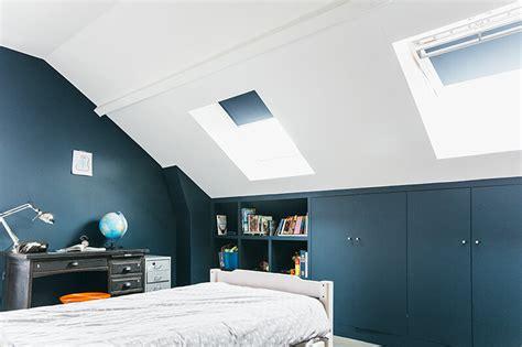 modele couleur peinture pour chambre adulte nuances de bleu style industriel frenchy fancy