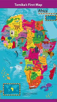 Personalised Children's Picture Africa Map - £26.99 ...