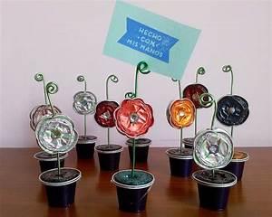 Creation Avec Des Pots De Fleurs : 1001 id es cr ation avec capsule nespresso une tasse ~ Melissatoandfro.com Idées de Décoration