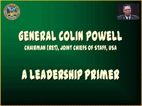 leadership  colin powell authorstream