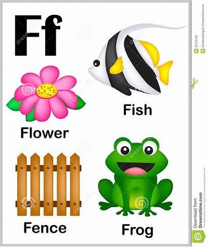 Letter Words Alphabet Clipart Printable Colorful Illustration