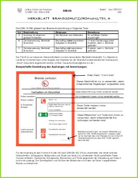 Die folgende brandschutzordnung gibt wichtige hinweise über das verhalten zur gewährleistung eines sicheren betriebes, zur vermeidung der gefährdung von gesundheit und eigentum und verminderung. 4 Brandschutzordnung Teil B Vorlage Word - MelTemplates - MelTemplates