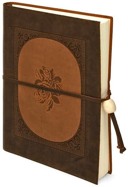 barnes and noble journals inlay brown italian leather journal with tie