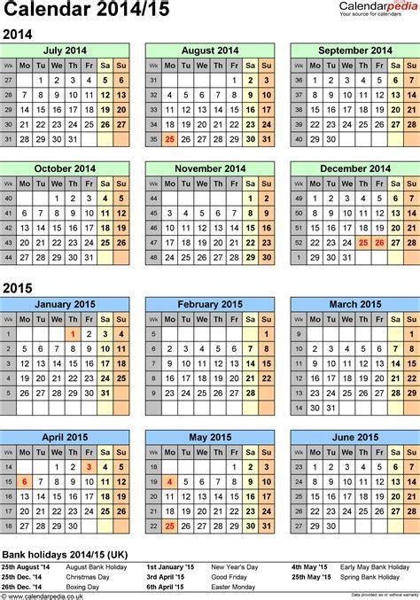 split year calendars  july  june