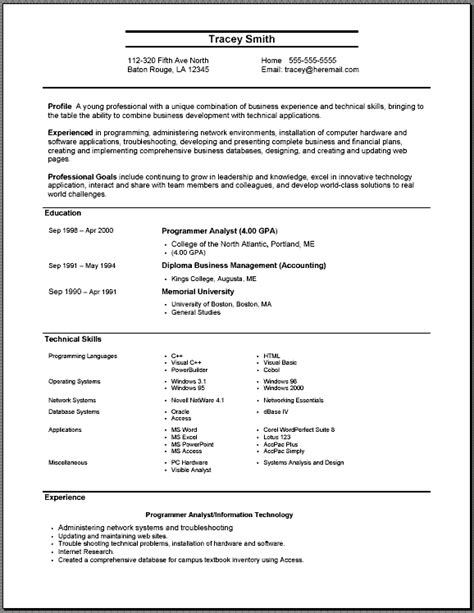 best resume format for computer engineer freshers jobs system administrator resume sle resume writing service