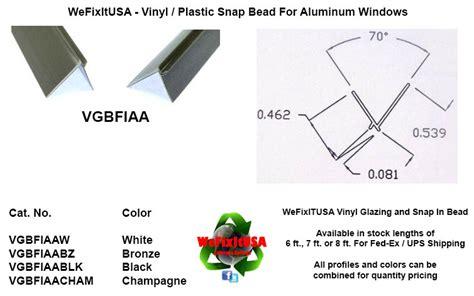 window glazing bead  aluminum vinyl wood windows