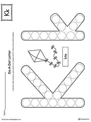 letter k worksheets letter k do a dot worksheet myteachingstation 9509