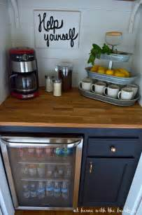 Small Kitchen Refrigerator diy beverage bar at home with the barkers