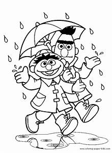 Sesame street color page - Coloring pages for kids ...