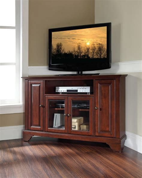 cabinet with tv rack tall corner tv stand designs and images homesfeed