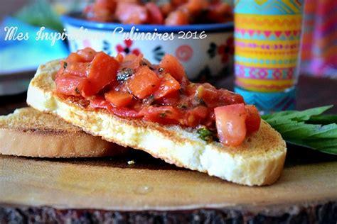recette bruschetta tomate  basilic le blog cuisine de