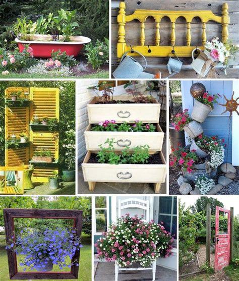 decoration de jardin en objets de recup des idees